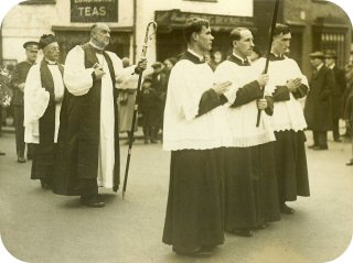 Canon James assists the Bishop in 1935